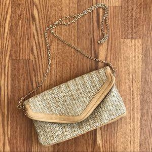 Straw clutch/ crossbody bag